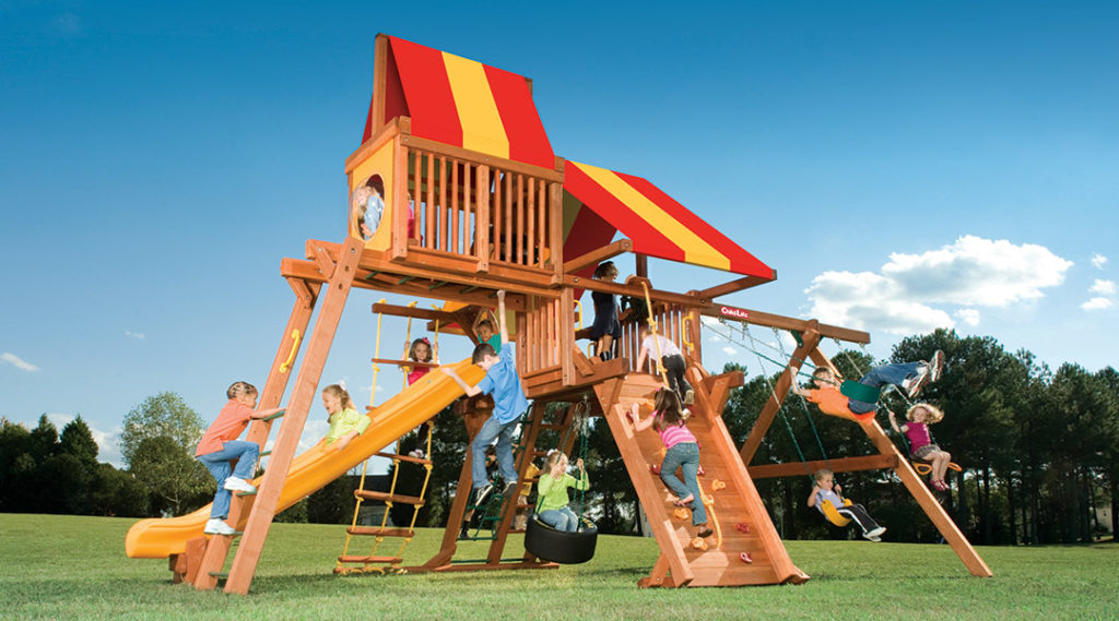 Bergen County Swing Sets Childlife Angle Base Tarzan Tower C