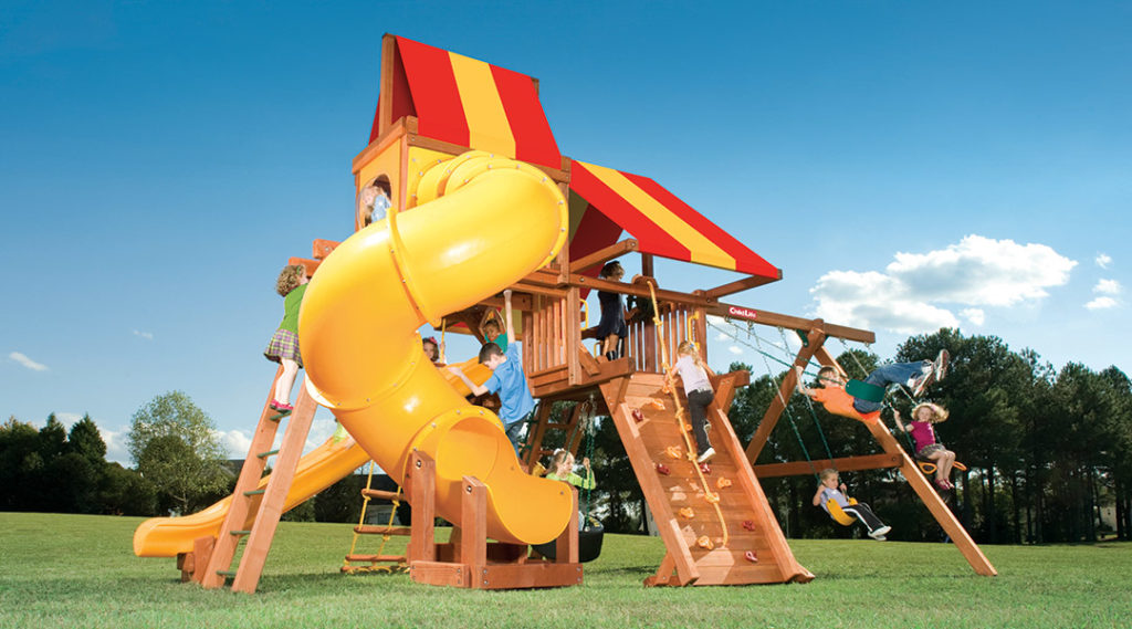 Bergen County Swing Sets Childlife Angle Base Tarzan Tower D