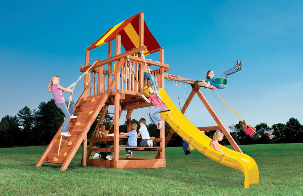 Bergen County Swing Sets Childlife Square Base Leopard's Lair D