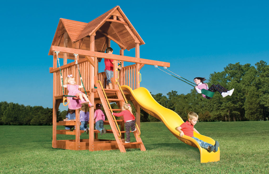 Bergen County Swing Sets Childlife Square Base Leopard's Lair G