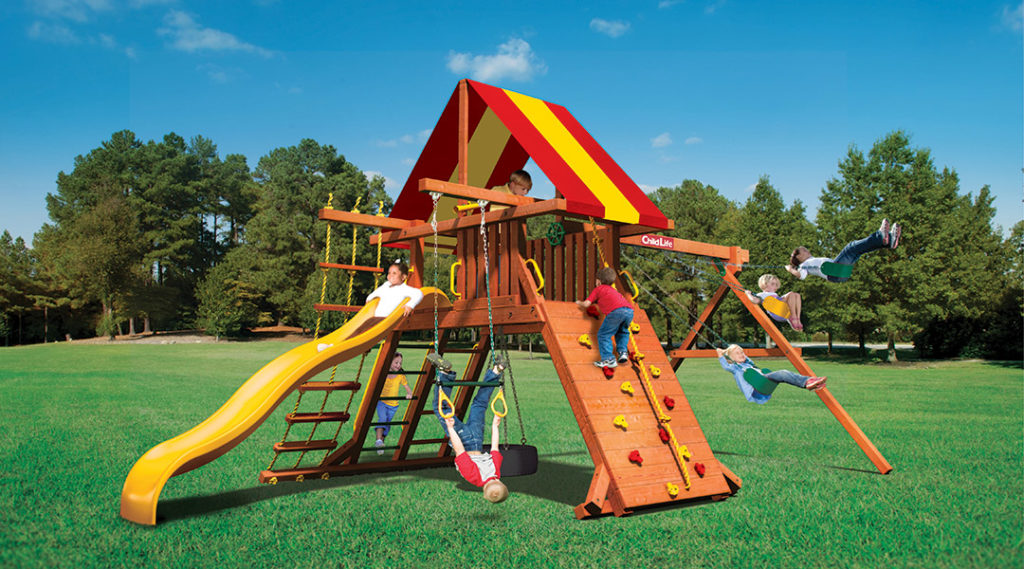 Bergen County Swing Sets Childlife Angle Base Lion's Den A