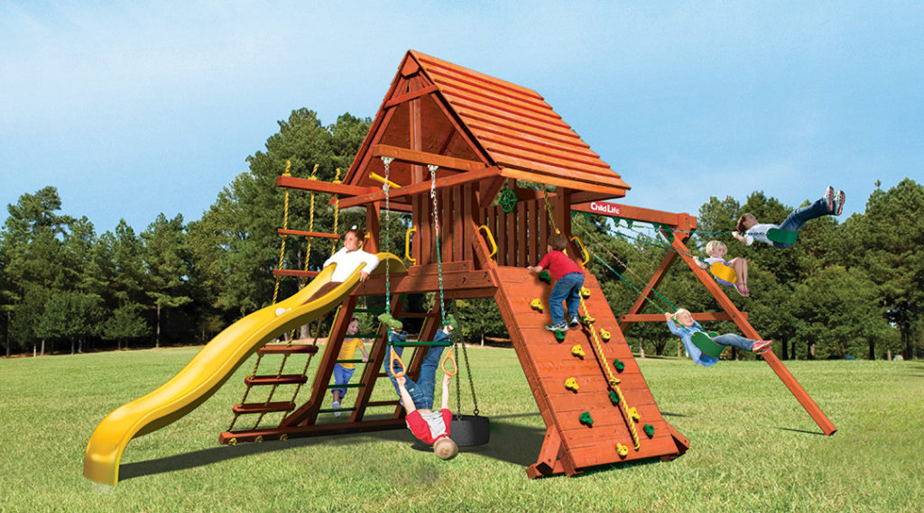 Bergen County Swing Sets Childlife Angle Base Lion's Den B