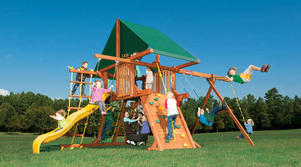 Bergen County Swing Sets Childlife Angle Base Tarzan Tower A