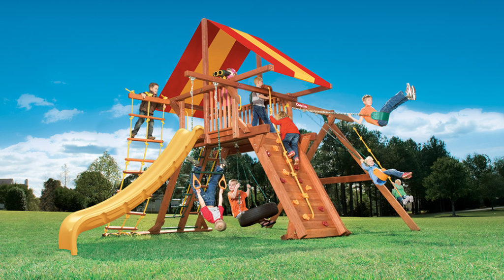 Bergen County Swing Sets Childlife Angle Base Tarzan Tower B