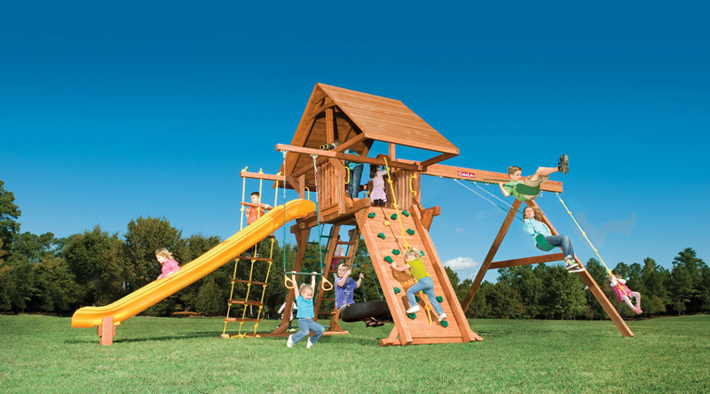 Bergen County Swing Sets Childlife Angle Base Tarzan Tower E