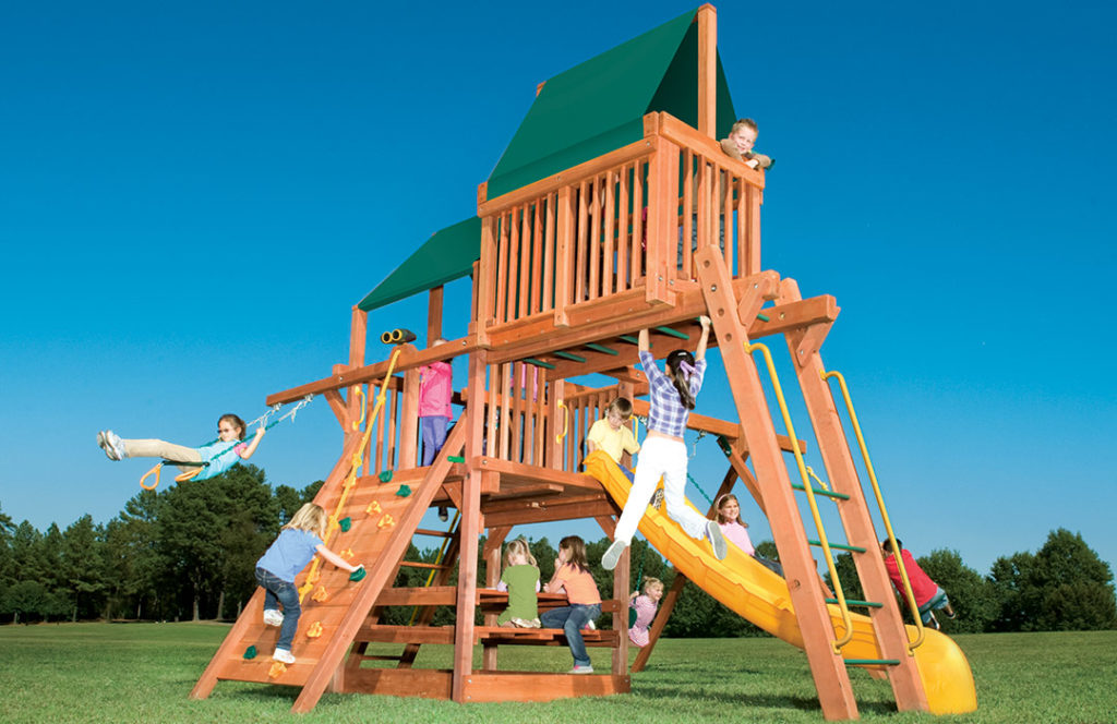 Bergen County Swing Sets Childlife Square Base Leopard's Lair C
