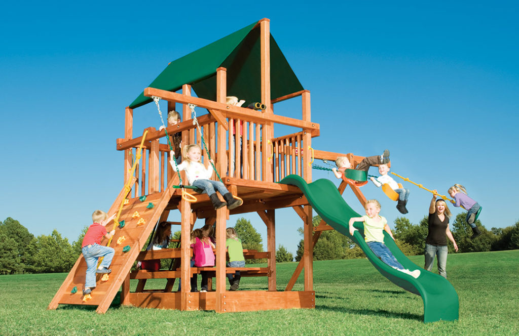 Bergen County Swing Sets Childlife Square Base Leopard's Lair E