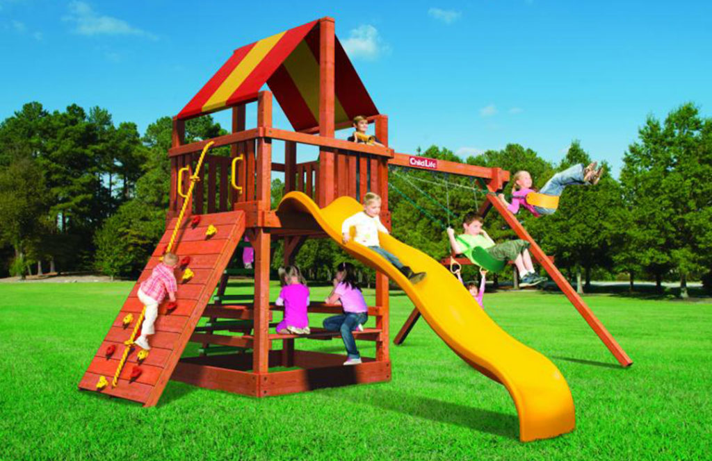 Bergen County Swing Sets Childlife Square Base Monkey Tower B