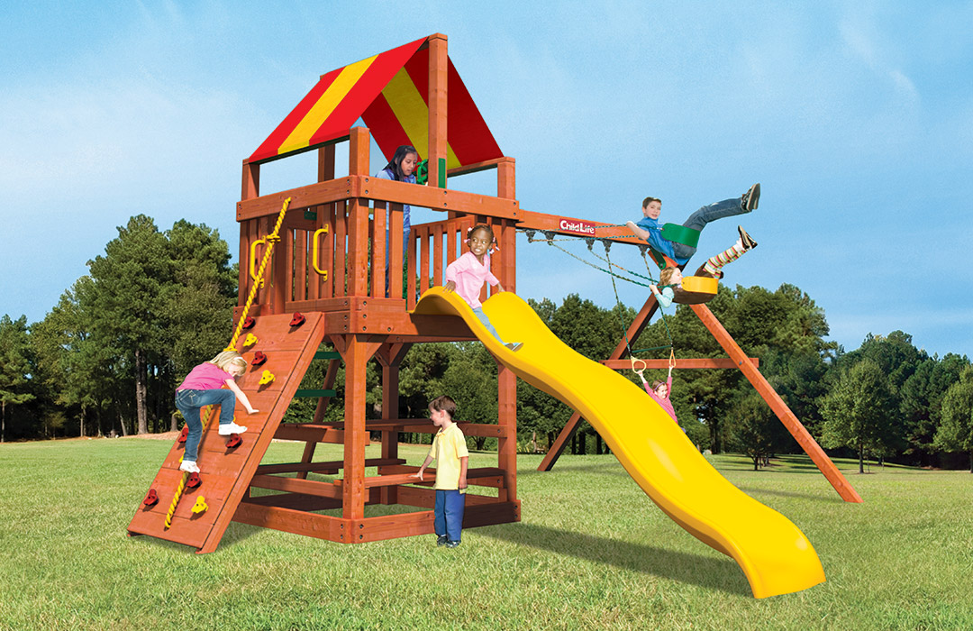 Bergen County Swing Sets Childlife Square Base Tiger Tower