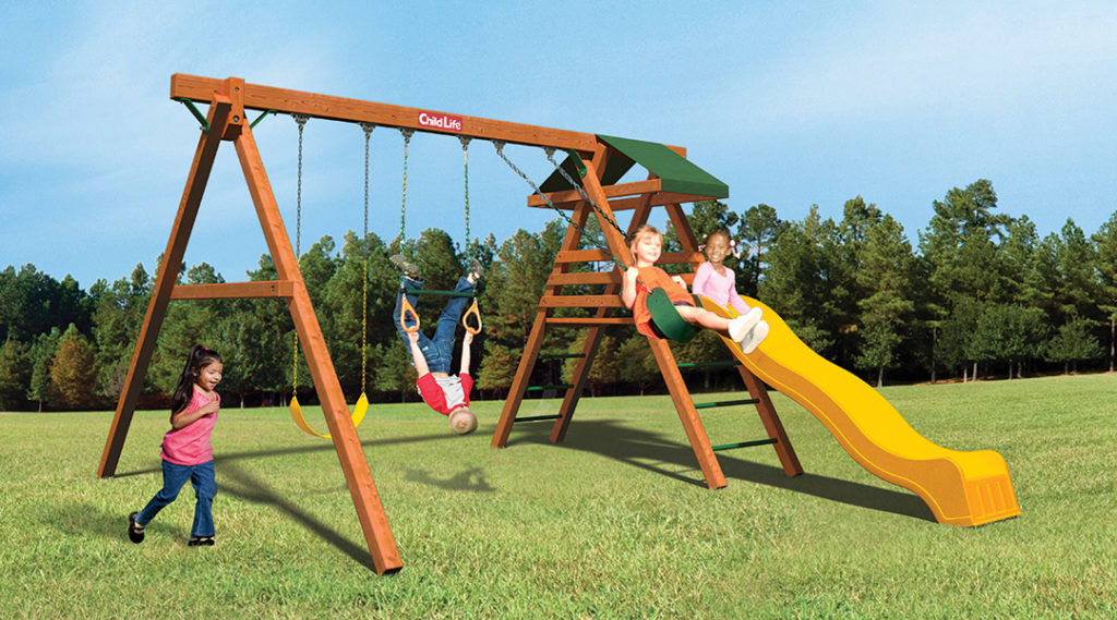 Bergen County Swing Sets Childlife Traditional Jungle Tower