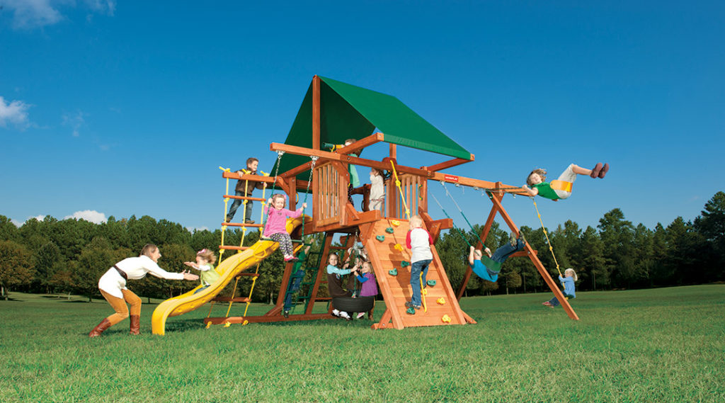 Bergen County Swing Sets Woodplay Outback 5A Playset