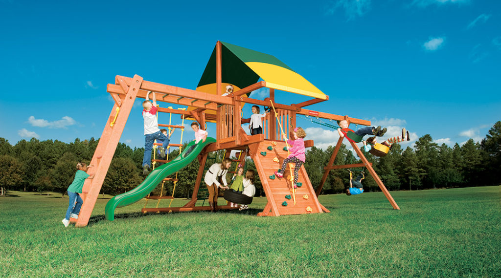 Bergen County Swing Sets Woodplay Outback 5B Playset