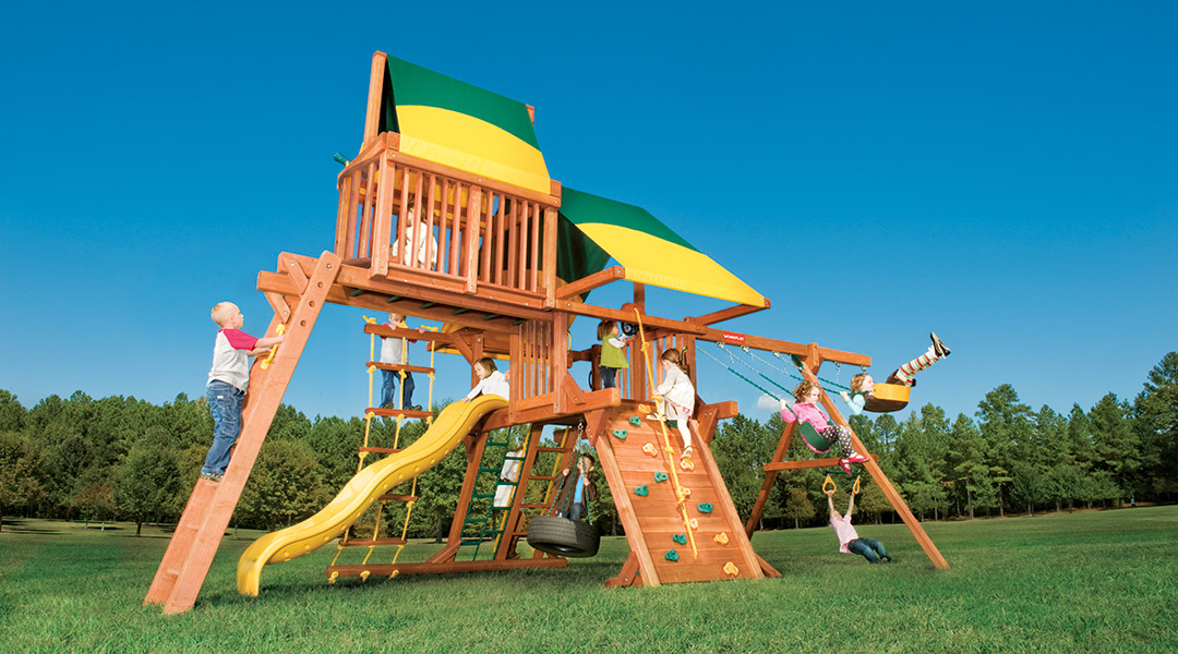 Bergen County Swing Sets Woodplay Outback 5C Playset