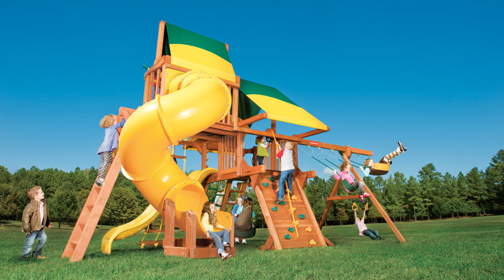 Bergen County Swing Sets Woodplay Outback 5D Playset