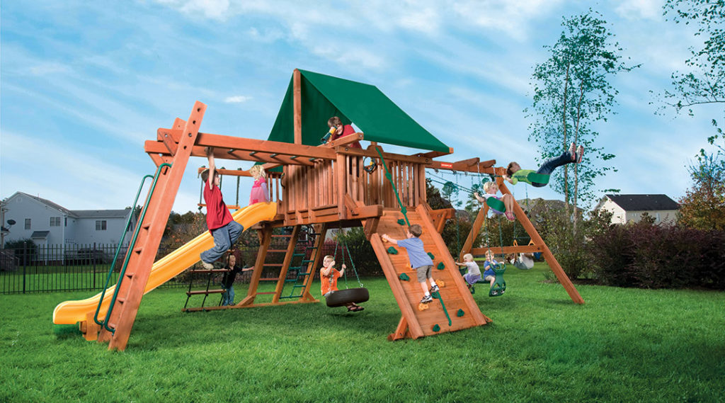 Bergen County Swing Sets Woodplay Outback 5XL A Playset