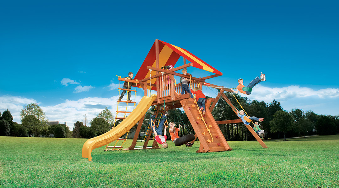 Bergen County Swing Sets Woodplay Outback 6A Playset