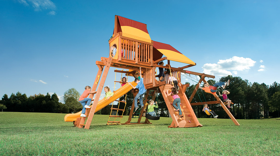 Bergen County Swing Sets Woodplay Outback 6B Playset