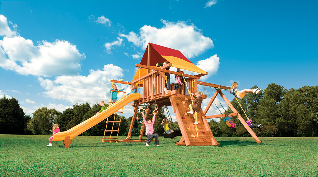 Bergen County Swing Sets Woodplay Outback 6XL A Playset