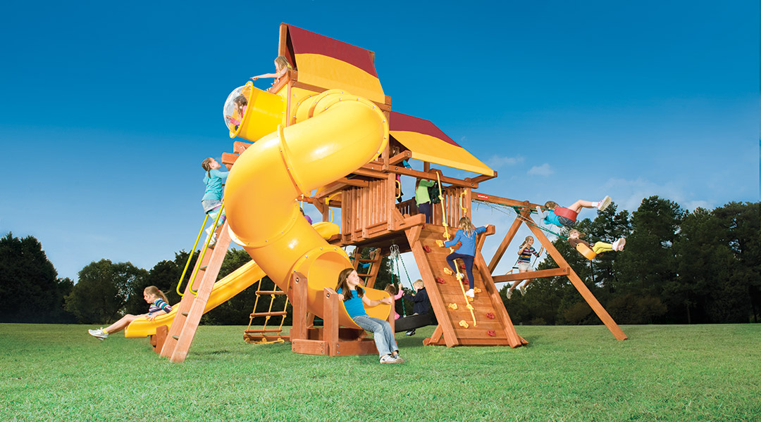 Bergen County Swing Sets Woodplay Outback 6XL B Playset