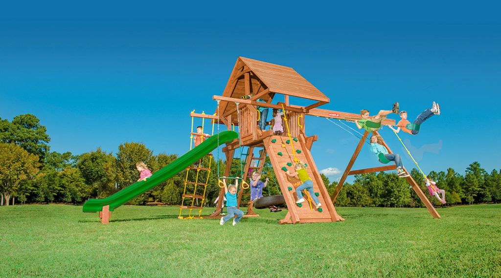 Bergen County Swing Sets Woodplay Outback 7A Playset