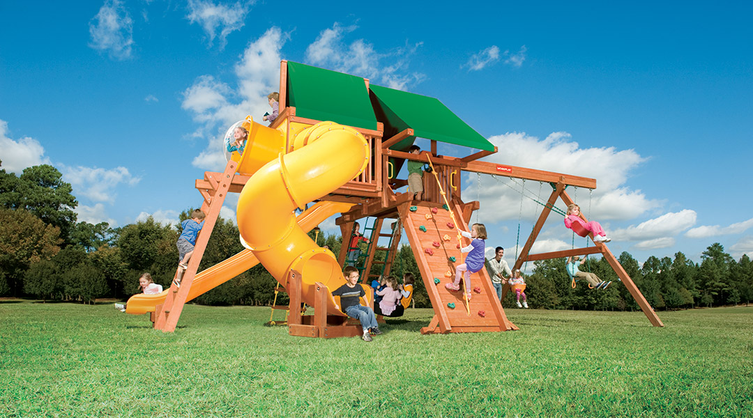 Bergen County Swing Sets Woodplay Outback 7B Playset