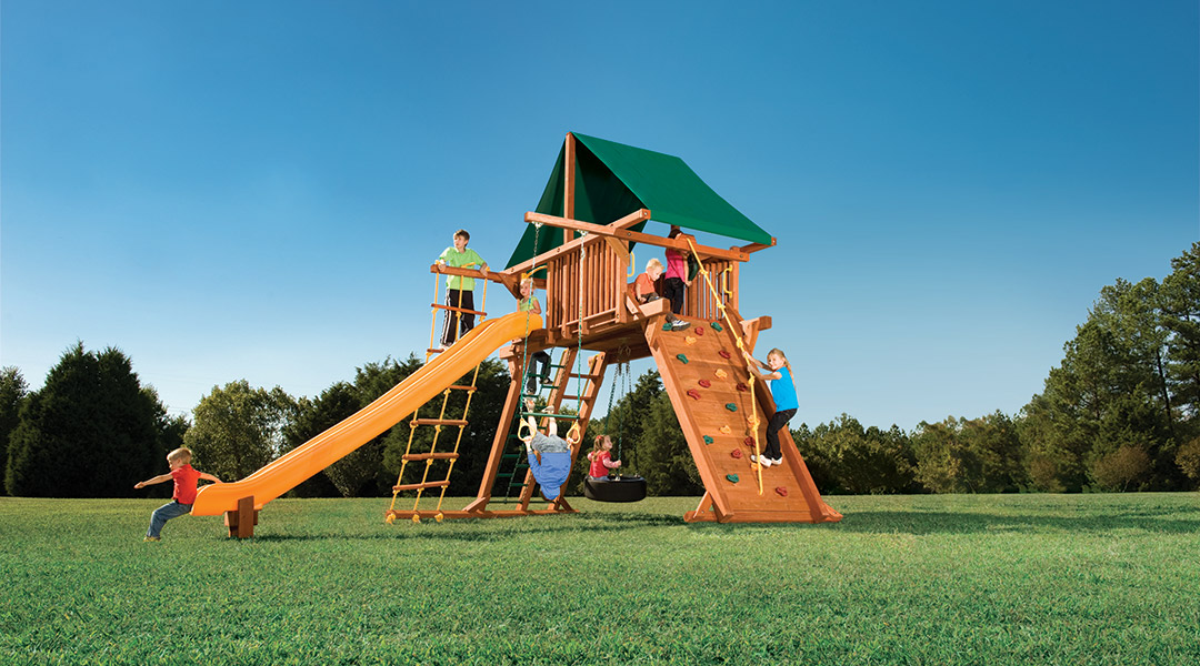 Bergen County Swing Sets Woodplay Outback 7XL A Playset