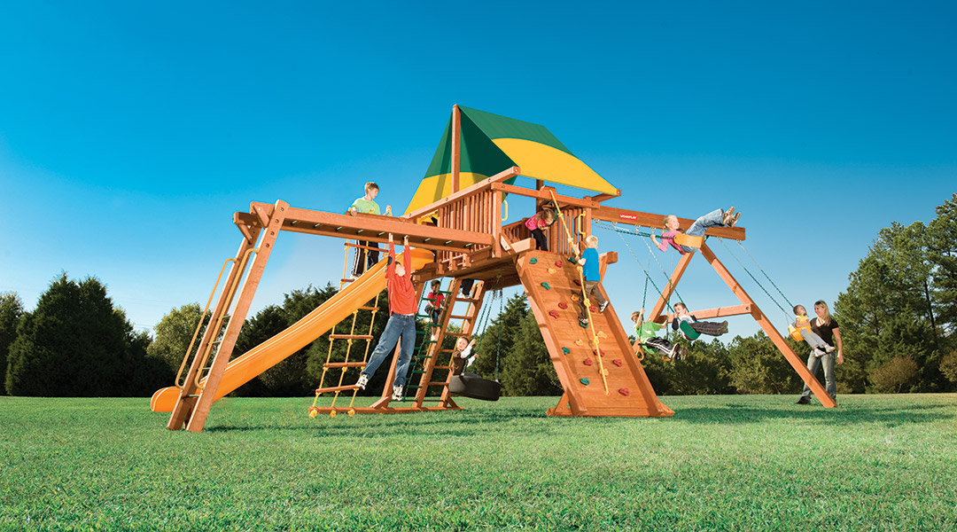 Bergen County Swing Sets Woodplay Outback 7XL B Playset