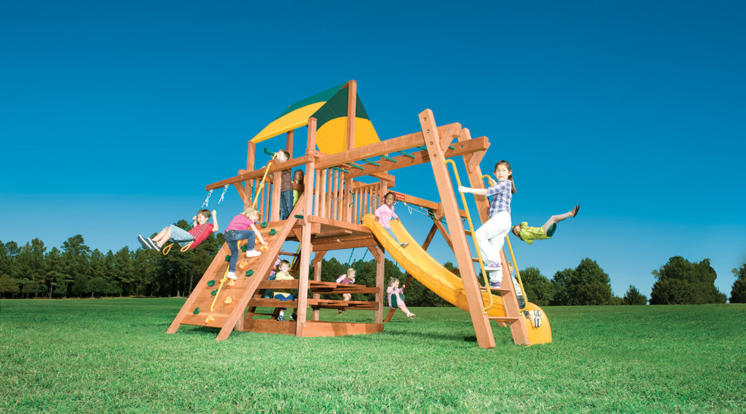 Bergen County Swing Sets Woodplay Playhouse 5A Playset