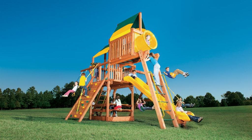 Bergen County Swing Sets Woodplay Playhouse 6C Playset