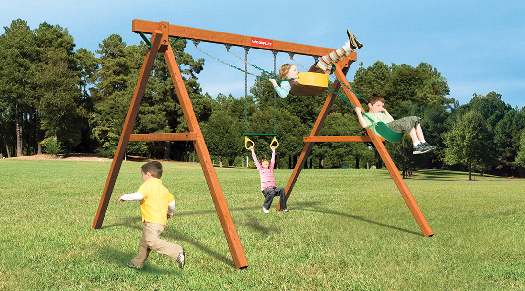 Bergen County Swing Sets Woodplay Safari Series Jungle Swinger