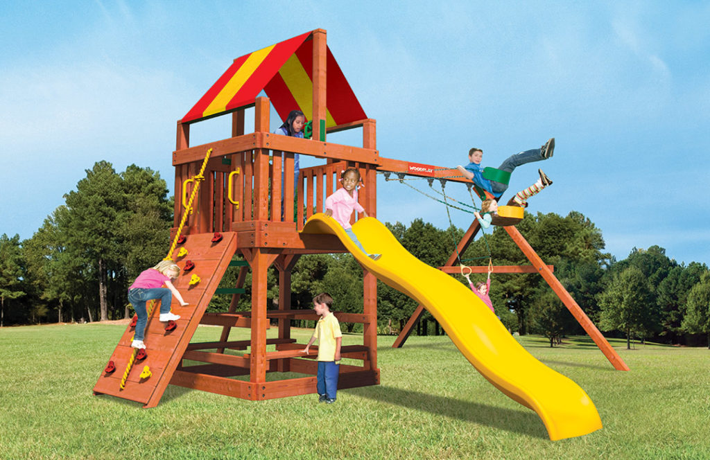 Bergen County Swing Sets Woodplay Safari Series Tiger Tower A